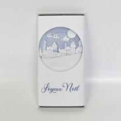 Tablette Noël village blanc