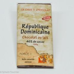 Origine République Dominicaine lait 46%